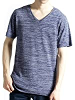 (モノマート) MONO-MART Vネック カットソー フライス ストレッチ Tシャツ 色 デザイン メンズ
