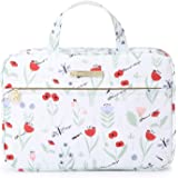 Hanging Travel Toiletry Bag - Large Capacity Multifunction Cosmetic Toiletry Travel Organizer for Men & Women with 5 Compartments & 1 Sturdy Hook (Abutilon striatum)