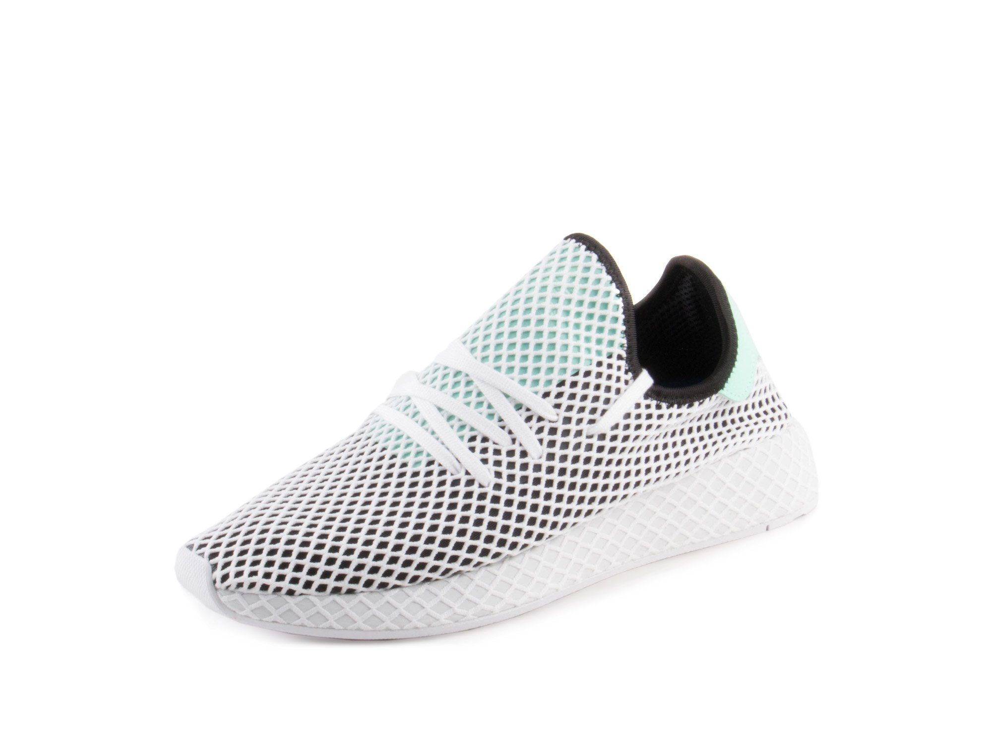 9970b0c95b8fd Galleon - Adidas Mens Originals Deerupt Runner Core Black Easy Green White  Mesh Size 11