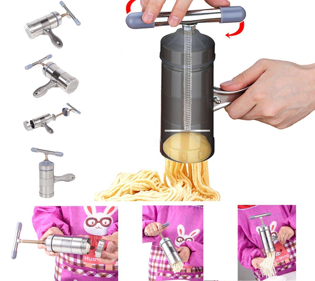 JOYOOO Acciaio inossidabile Macchina per la pasta con 5 Template