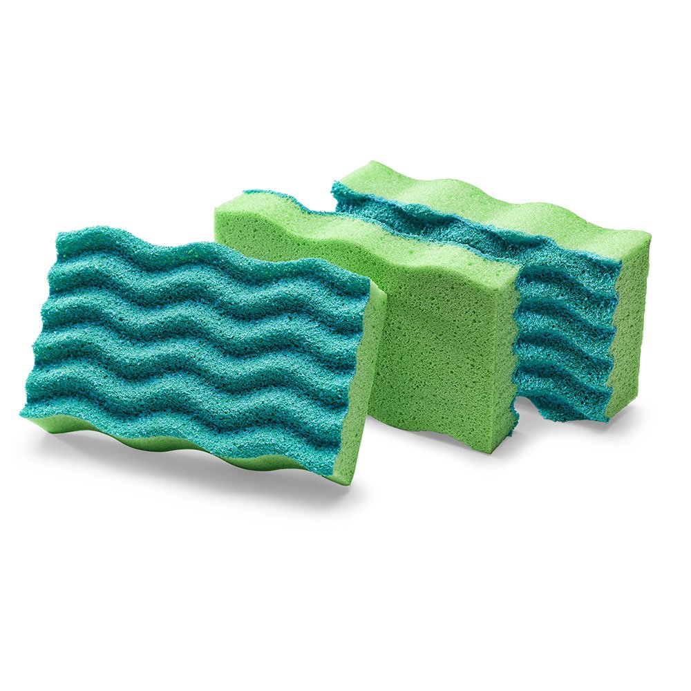 Libman Commercial 1079 Antibacterial Scrub Sponge, Synthetic, 4.5'' x 3'', Green and Blue (Pack of 8)