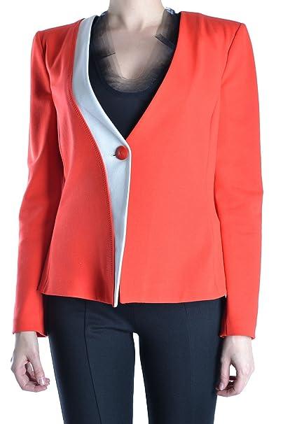 Armani Collezioni Femme Mcbi024006o Blanc Rouge Viscose Veste ... a5bf301c96bb