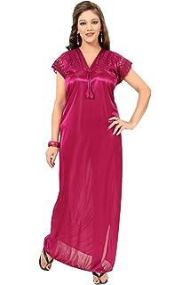 bb89a3d6c6 Fashigo Women s Nightdress (FASNW032 Dark Purple Free Size)  Amazon ...