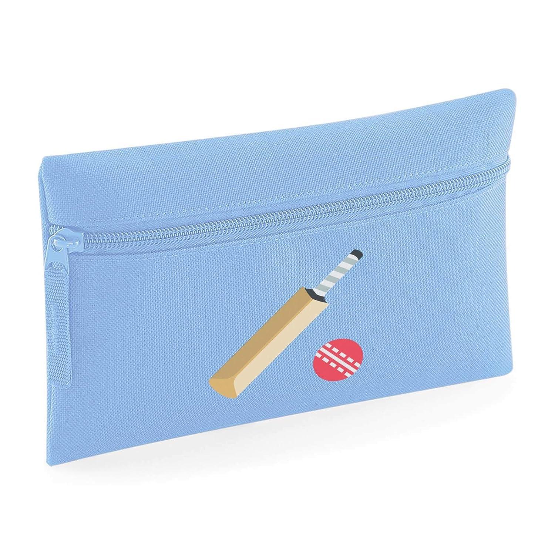Emoji Cricket Bat And Ball Small Flat Pencil Case Black 86635-BLACK-ONE-SIZE