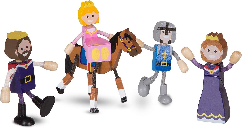 Melissa & Doug Wooden Flexible Figures - Royal Kingdom