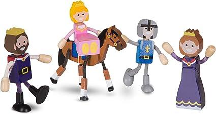 Melissa /& Doug Wooden Flexible Figures Careers Dolls for Dollhouses Melissa and Doug 2474