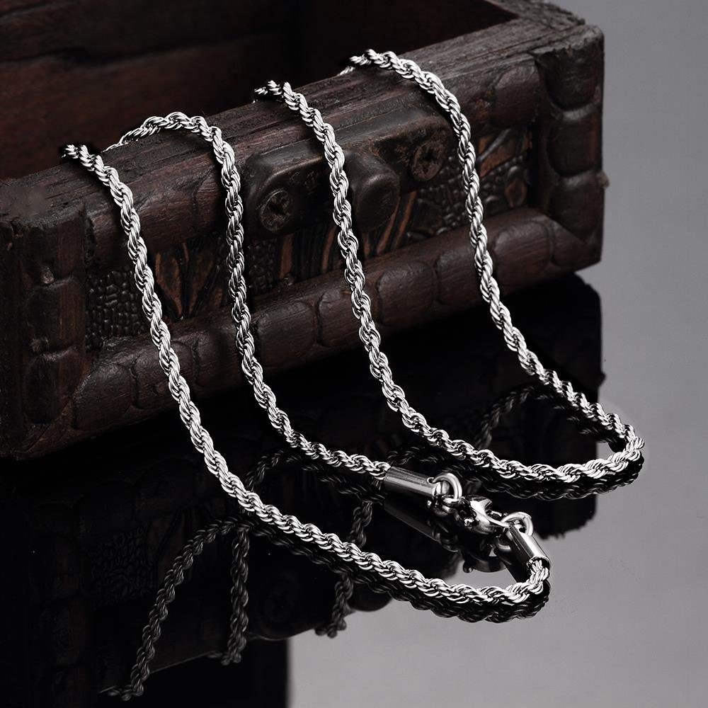 YWM Geometric Unisex Romantic Stainless Steel Cable Chain Necklace Ancient Maya Pop Vintage 3 Steel Rolo with Chain