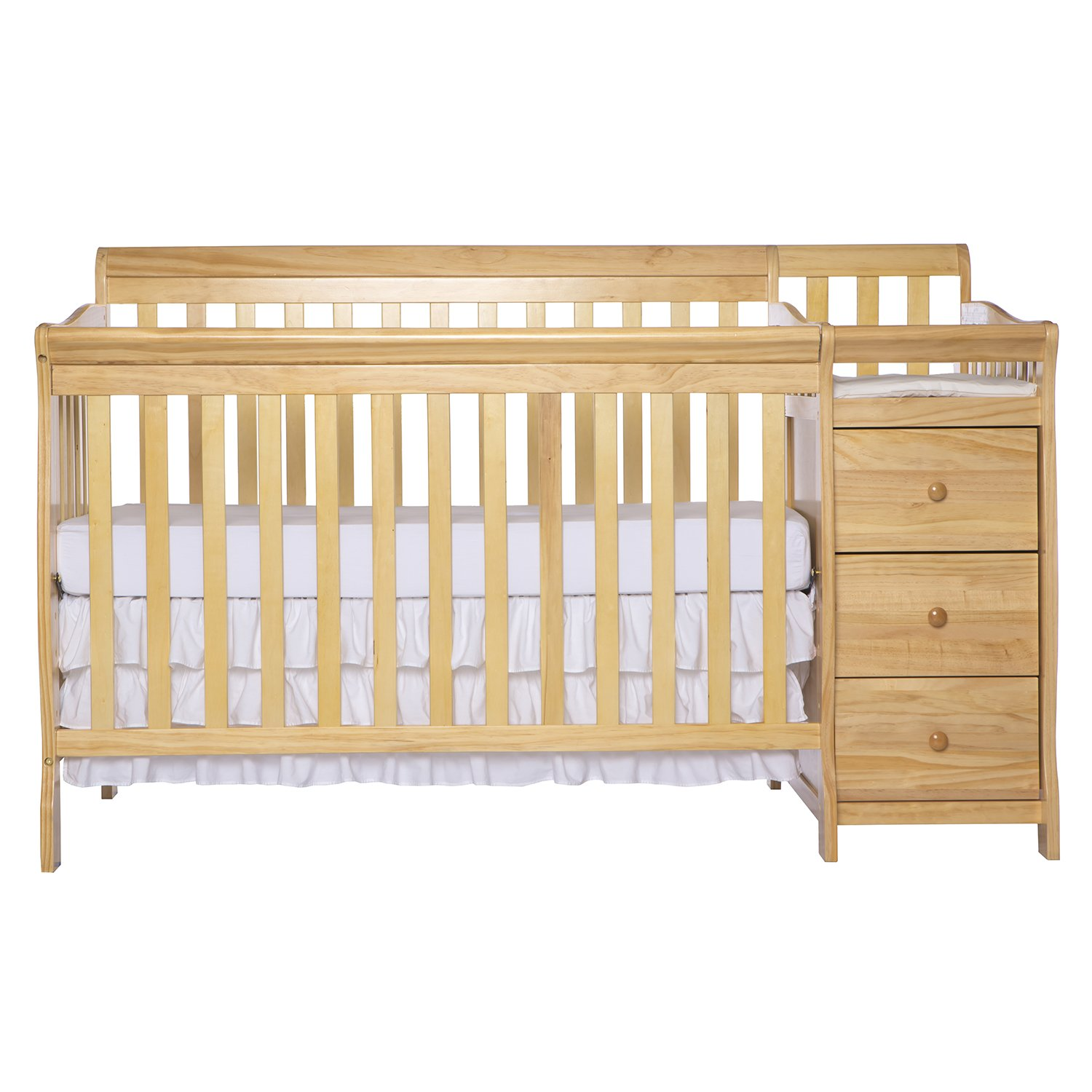 Dream On Me 5 in 1 Brody Convertible Crib with Changer, Natural by Dream On Me (Image #1)
