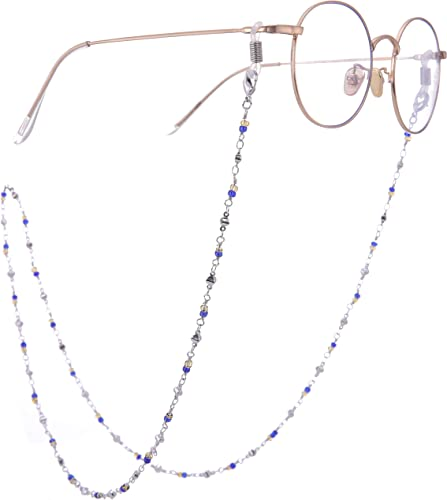 Shiny Eyeglass Cord Glasses Reading Eyewear Spectacles Neck Heart Chain Holder