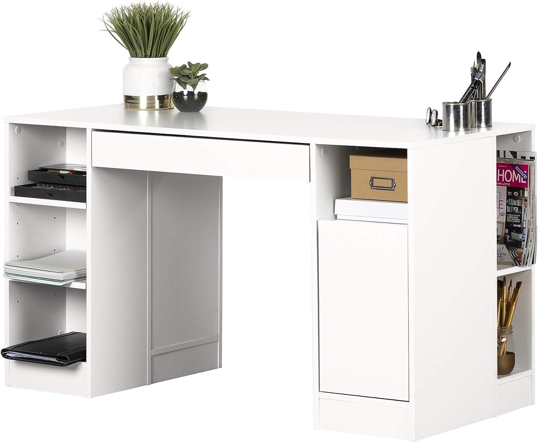 South Shore Furniture Crea Collection Craft Table White Amazon Ca Home Kitchen