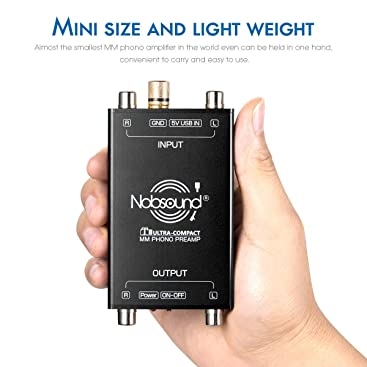 Nobsound T1 - Preamplificador de Audio para receptores MM Phono ...