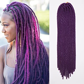 Amazon 24 handmade dreads dark purple braiding hair 24quot handmade dreads dark purple braiding hair extensions dreadlocks single ended synthetic pmusecretfo Gallery