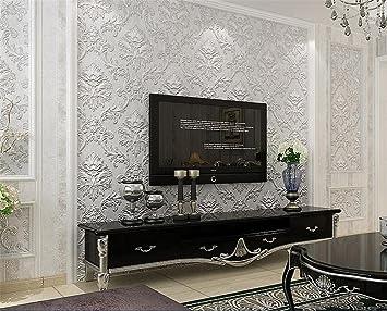 Hu0026M Tapete Vlies Modern Einfach Textur 3D Einfarbig Wasserdicht Tapete  Dekoration Schlafzimmer TV Wand Wohnzimmer Tapete