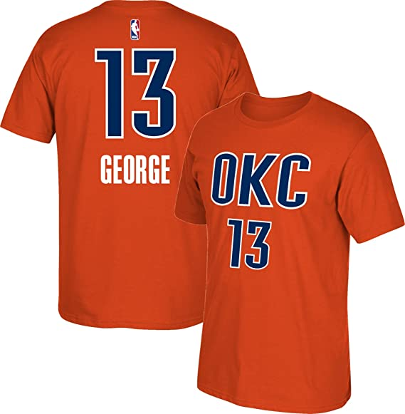 adidas Paul George Oklahoma City Thunder Alternate Naranja Nombre ...