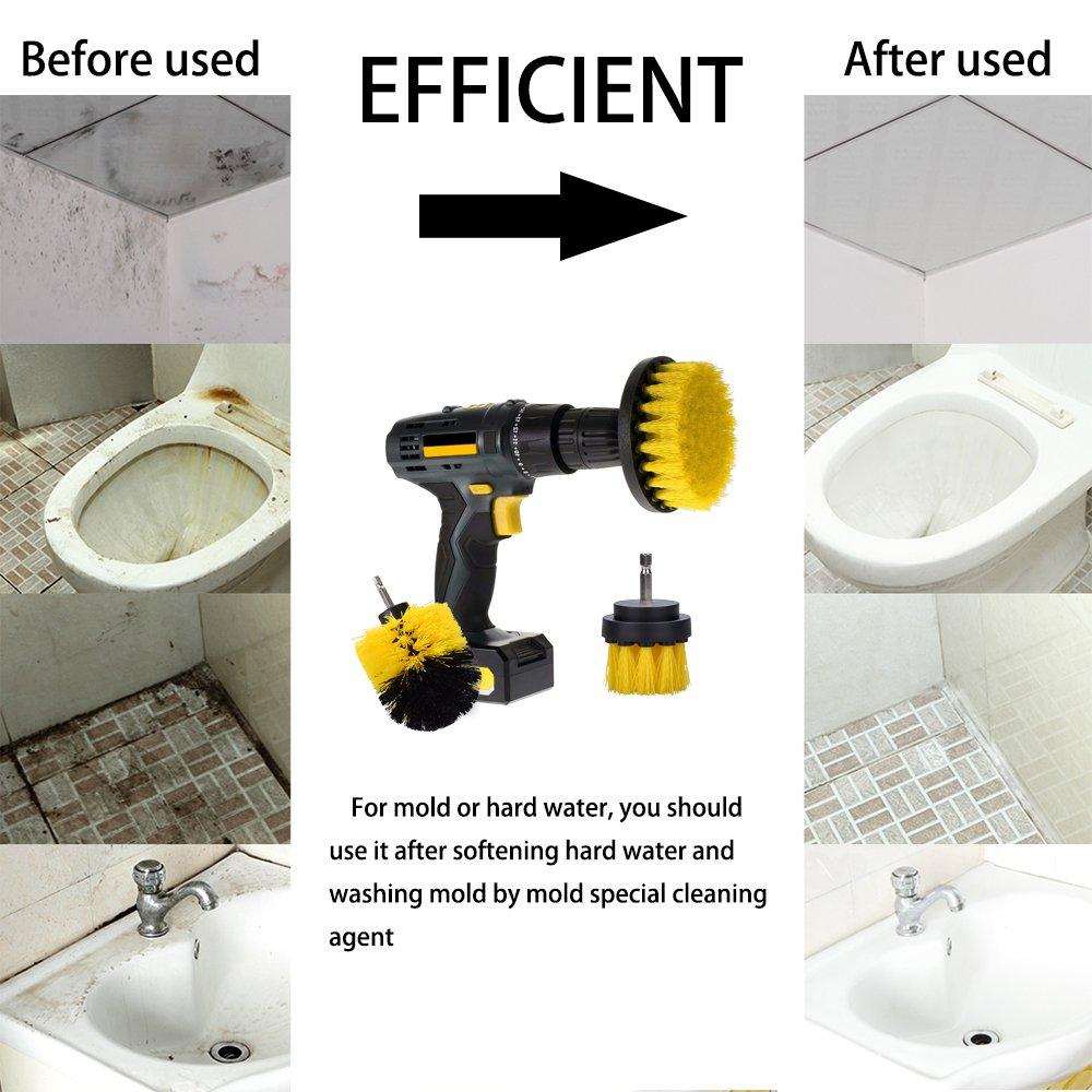 Amazon.com : Scrub Brush Drill Attachment Kit Ninonly Nylon Power ...