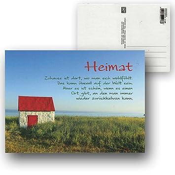 heimat sprüche Cartolini Postkarte Karte Sprüche Zitate 15,5 x 11,5 cm Heimat  heimat sprüche