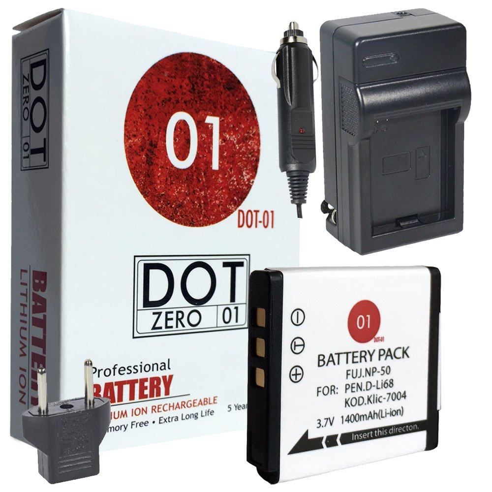DOT-01 Brand Fujifilm Square SQ10 Battery and Charger for Fujifilm Square SQ10 Instant Camera and Fujifilm SQ10 Battery and Charger Bundle for Fujifilm NP50 NP-50