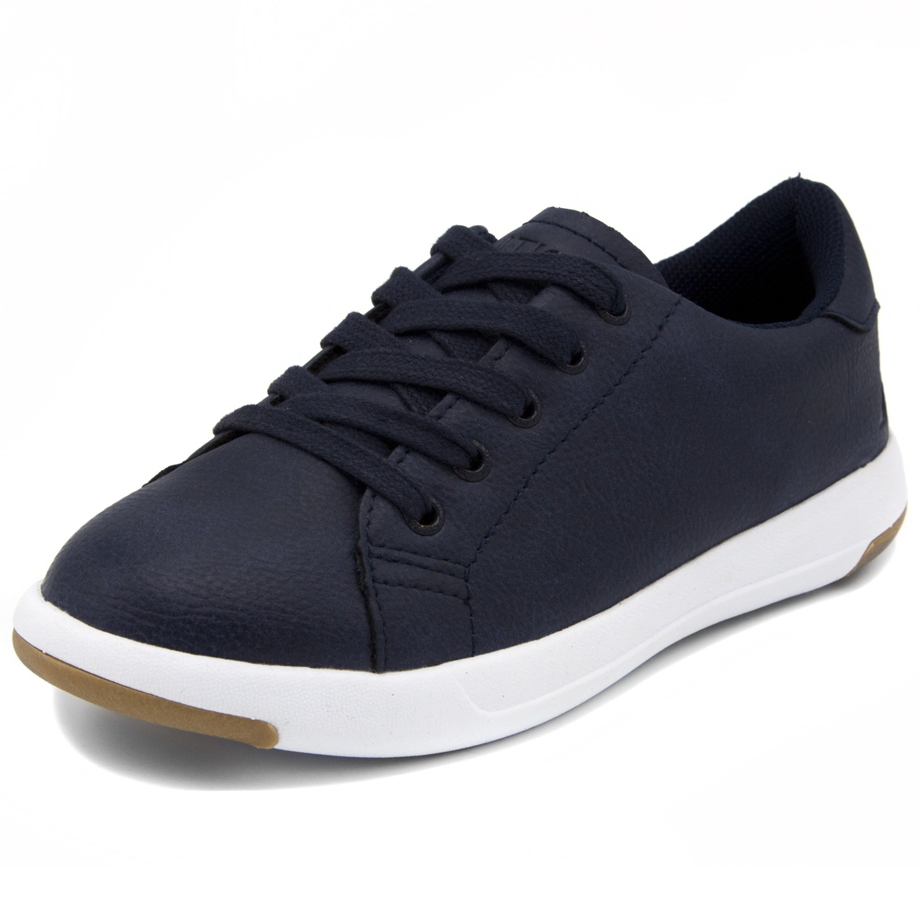 Nautica Kids Inboard Sneaker-Lace up Fashion Shoe-Navy Smooth-1
