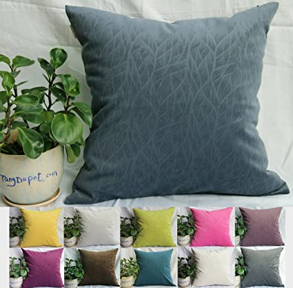 Amazon TangDepot Solid Velvet Decorative Pillow CoversEuro Awesome Decorative Euro Pillow Shams