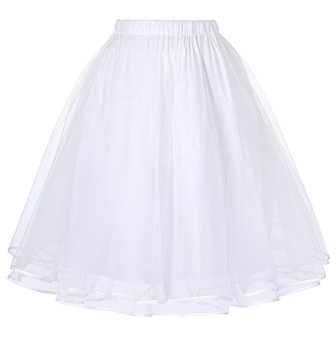 Faldas Rockabilly Enaguas Blancos Años 50 M BP229-2