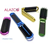 ALAZCO Colorful Hair Brush Choose from Folding style and Rainbow Bristles