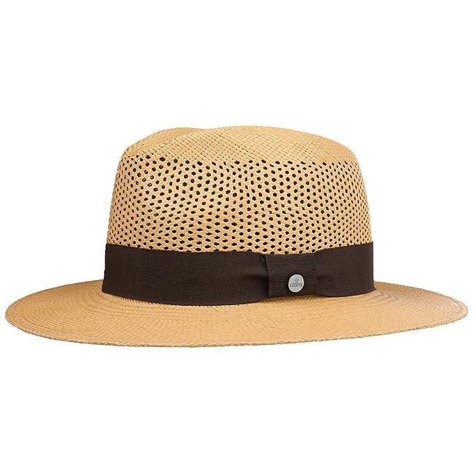 Gamboa Cappello Panama Marrone Autentico Unisex Cappello da Sole di Paglia e7e6b1936e8a
