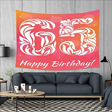 Amazon Com Smallbeefly 65th Birthday Wall Tapestry Greeting Card