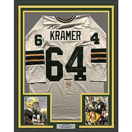 Signed Jerry Kramer Jersey - FRAMED HOF 33x42 White COA - JSA Certified -  Autographed NFL 2a14553b2