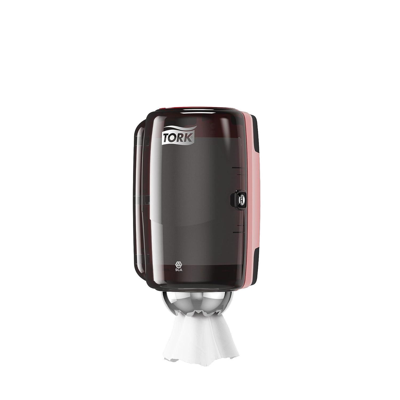 Tork 658000 Dispenser Mini a Estrazione Centrale Sistema M1 Bianco//Turchese 33X19X17 cm