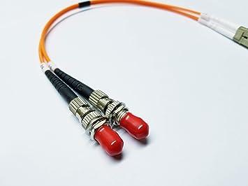 Amazon.com: Cable adaptador de fibra óptica LC (macho) a ST ...