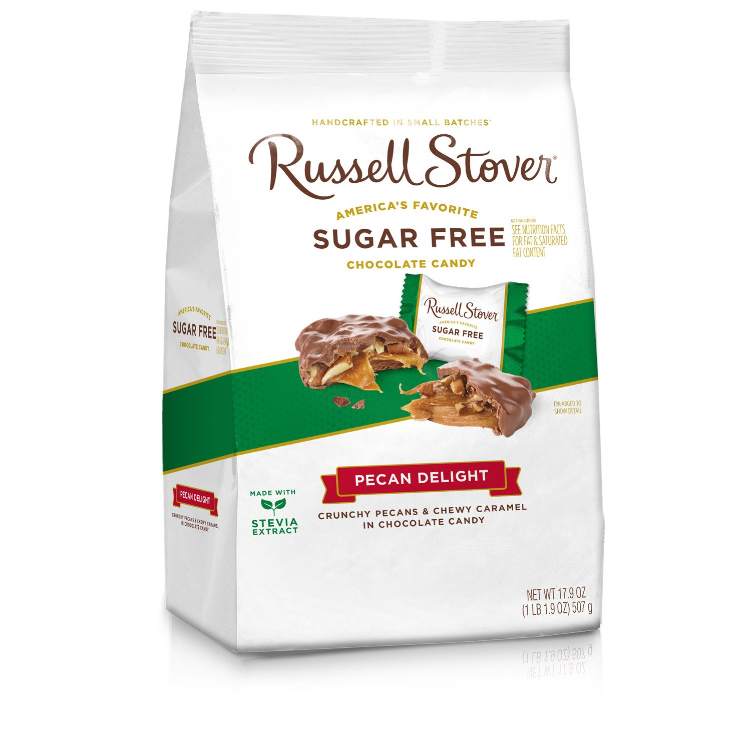 Russell Stover Sugar Free Pecan Delight Gusset, 17.9 Ounce Bag, 4 Count by Russell Stover