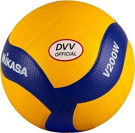 MIKASA V200W-DVV - Balón de Voleibol (Talla 5), Color Amarillo y ...