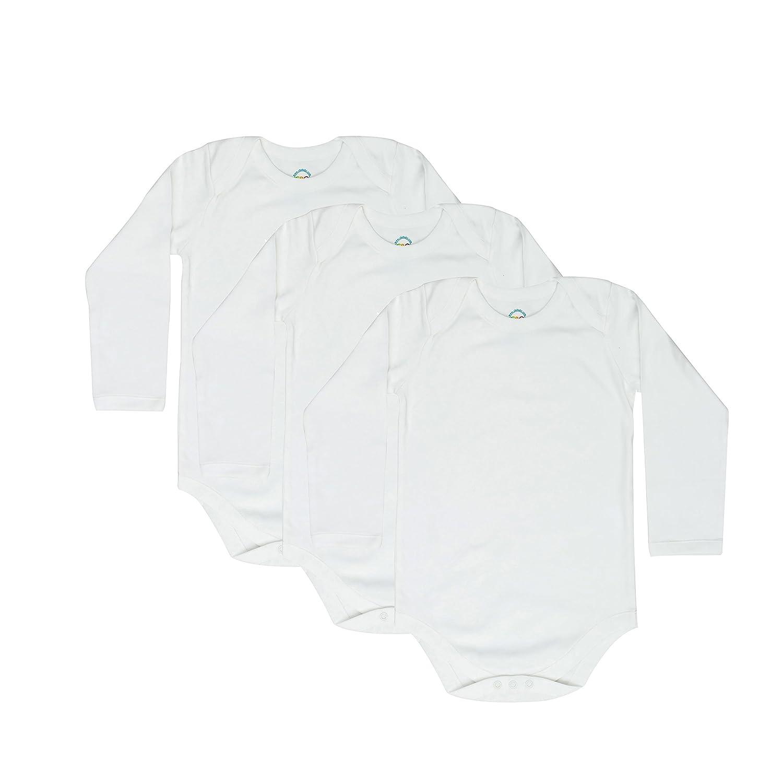 4T 5T 6T Toddler Bodysuits Long Sleeve Envelope Neck 3 Pack