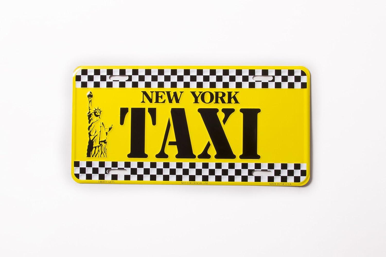 New York taxi- New York License Plate NY Yellow Cab taxi NYC metallo statua della libertà piastra NYC Plate souvenir NY License Plates Decor decorazione City-Souvenirs