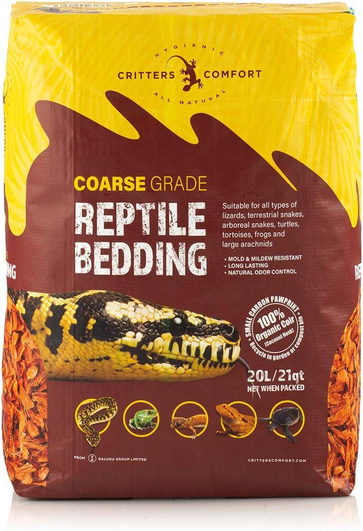 Critters Comfort Coconut Reptile Bedding Organic Substrate - Coarse, 21 Quarts