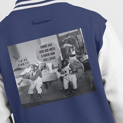Bertrand Mills Chimpanzee Orchestra Band 1951 Mens Varsity Jacket: Amazon.es: Ropa y accesorios
