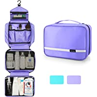 ZOONAI Hanging Travel Toiletry Storage Makeup Bag Waterproof Shaving Organizer