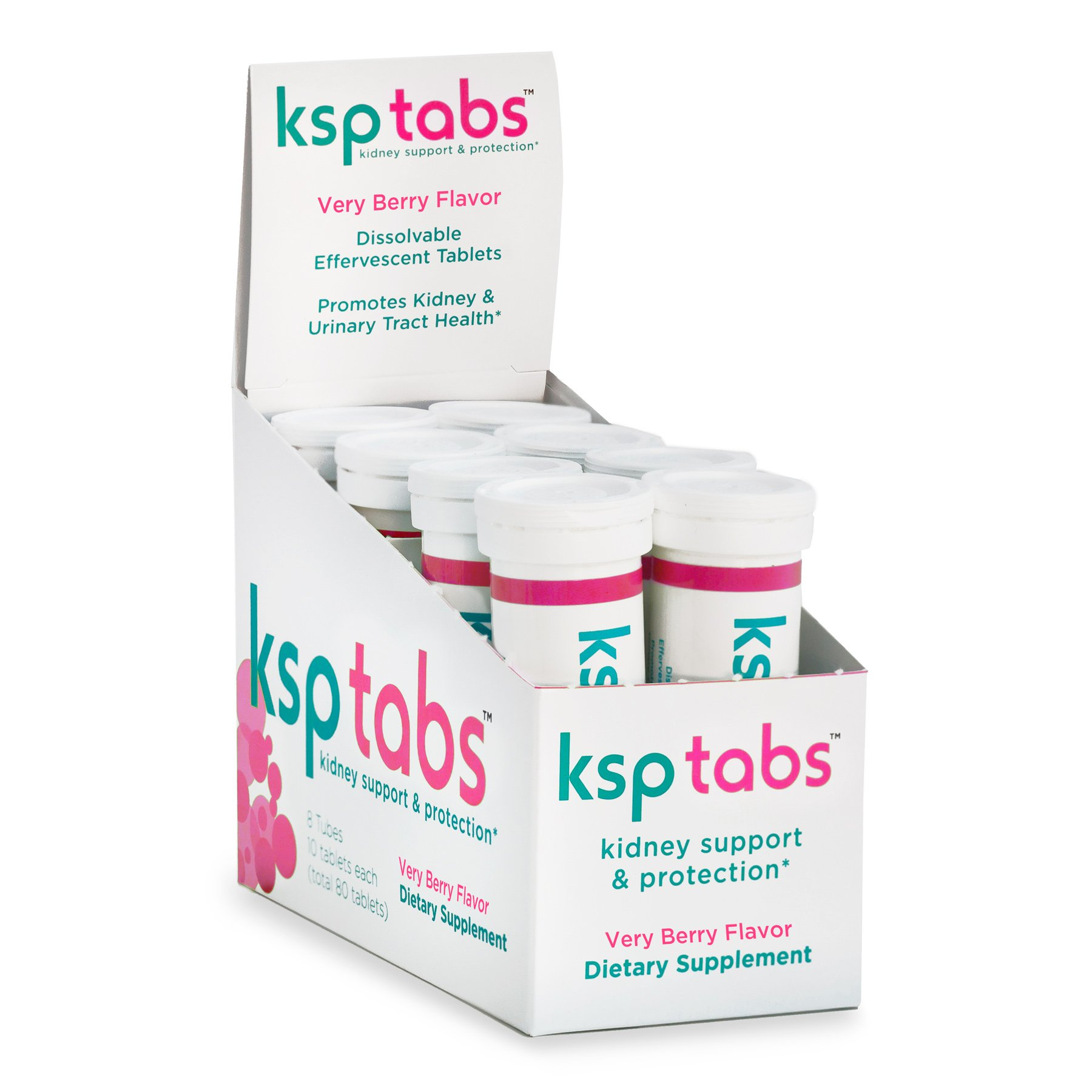 KSPtabs Hydration & Kidney Stone Treatment Tablets - Very Berry - 80 Tablets by KSPtabs
