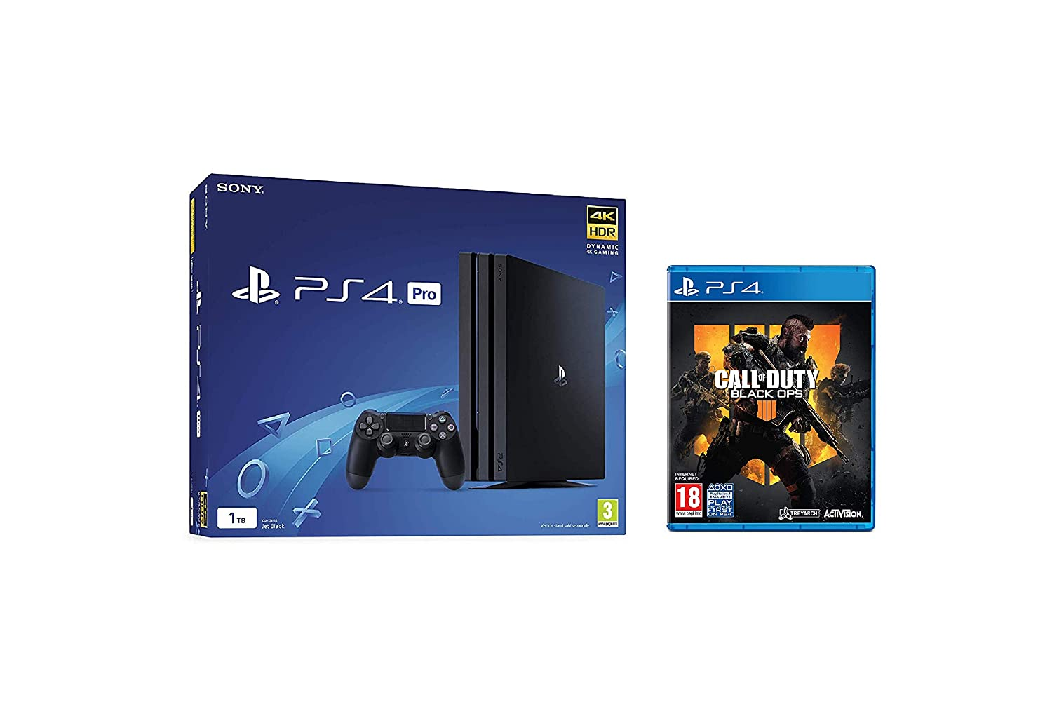 Sony Playstation 4 Pro 1tb Console Black Ps4 Pro Amazon