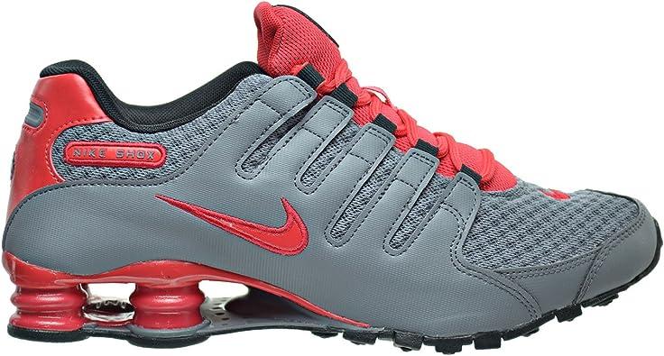 Rebelión León teatro  Amazon.com: Nike Shox NZ se Zapatos de para hombre Cool Gris/de Acción Rojo/Negro  833579 – 006, Gris: Shoes