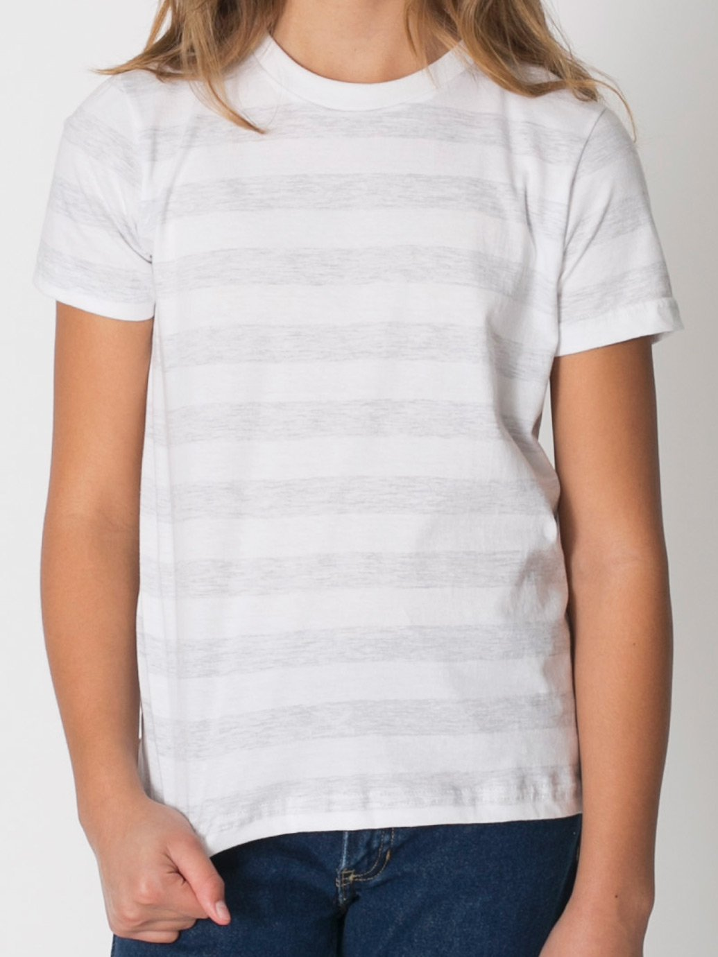 American Apparel Boys Fine Jersey Short-Sleeve T-Shirt (2201) -BABY BLUE -10 by American Apparel (Image #5)