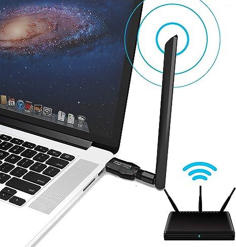 ULANSeN - Adaptador WiFi USB 3.0, 1200 Mbps, Banda Dual inalámbrica, 2,4/5,8 GHz con Antena 5dBi 802.11AC