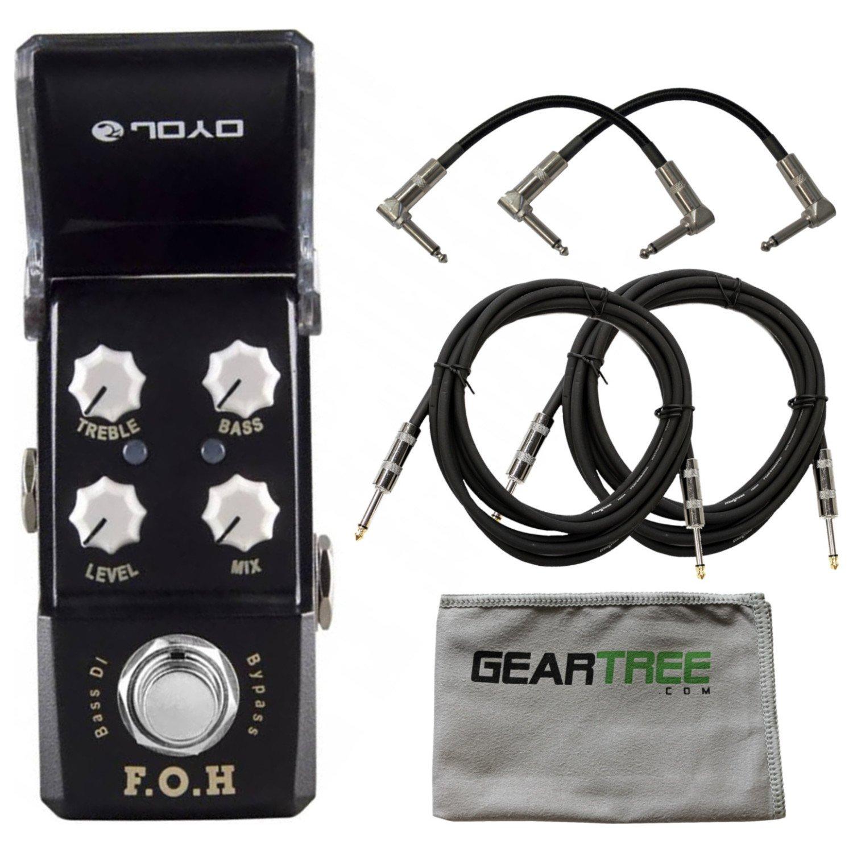 Joyo JF-331 F.O.H. Bass DI/EQ Pedal w/ Cloth and 4 Cables