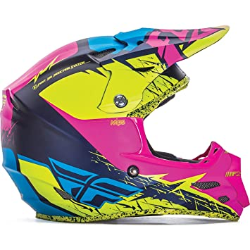 73-4229XS - Fly Racing 2017 F2 Carbon MIPs Retrospec Motocross Helmet XS Hi-