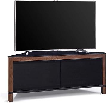 MDA Designs Volans tru-corner remoto Friendly luz thru cristal nogal/negro Reversible Panel LCD/Plasma/LED TV 2 puertas mueble de rincón: Amazon.es: Electrónica