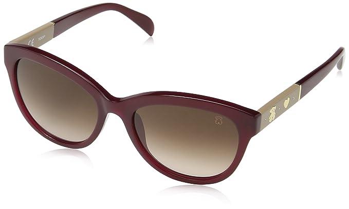 Tous STO909S54099N Gafas de sol, Shiny Opaline Burgundy, 54 ...