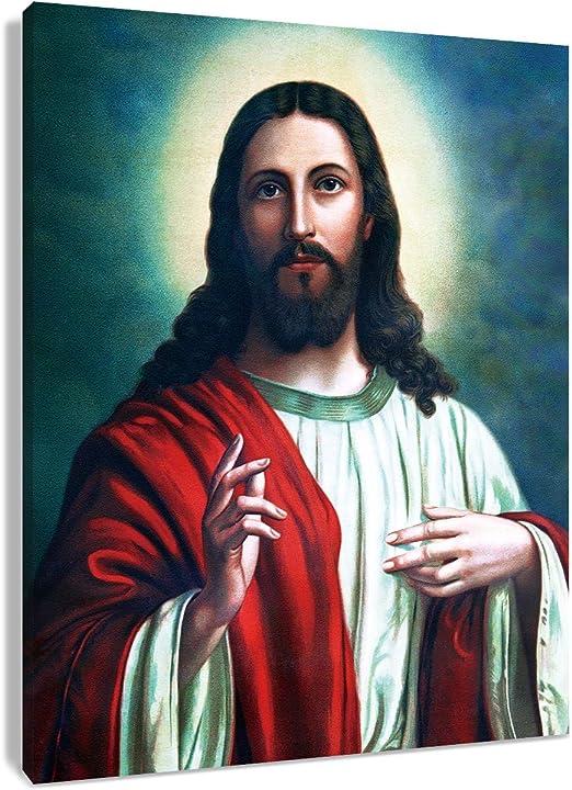 Portrait Posters and Prints Wall Art Canvas Painting Jesus Christ Decorative