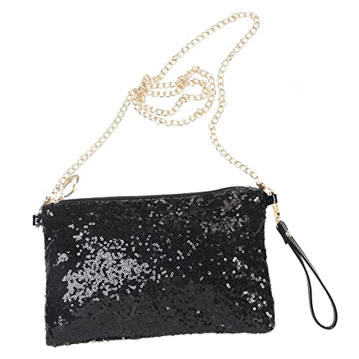 9db21be70eb8 Image Unavailable. Image not available for. Color  Tinksky Sparkly Sequin  Handbag Lady Party Evening Clutch ...