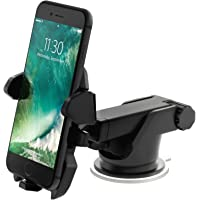 House of Quirk Car Phone Holder Windowscreen Car Mount Cradle with Adjustable 360 Degrees Rotation