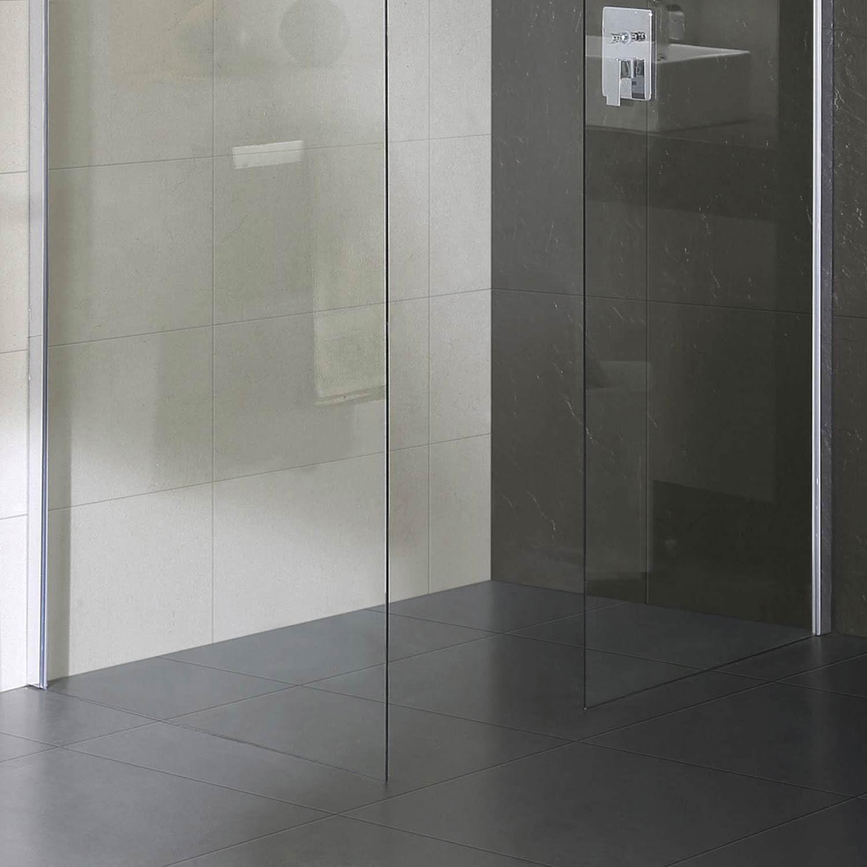 Mampara de ducha para pared de cristal transparente H198, Fosterberg Gar (de esquina): Amazon.es: Hogar